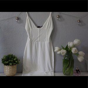 White Elegant Midi Dress🤍